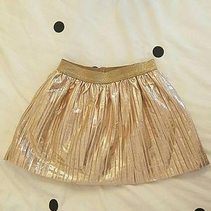 Little girls dressy gold skirt